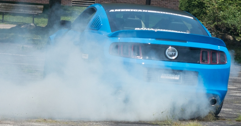 AmericanMuscle 2014 AM Girls Calendar Ford Mustang Burnout