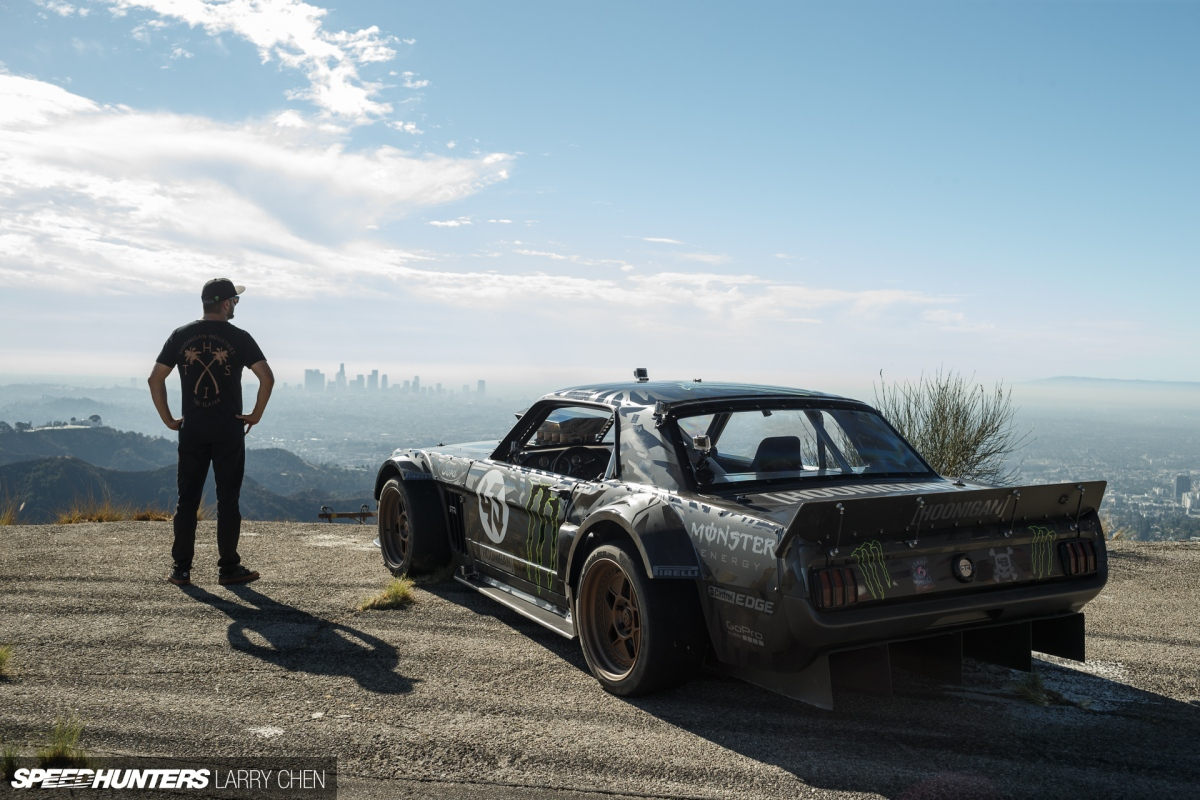 Video Ken Block S 1965 Awd Mustang Is A Tire Shredding