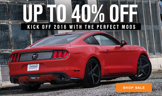 January Mustang Parts Sale