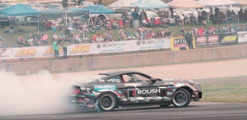 Justin Pawlak in a 2016 Mustang GT Drifting
