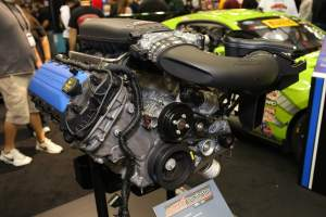 PRI display of the 5.2L Mustang crate engine