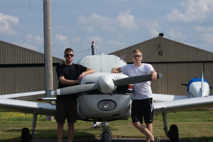 Connor and Alex Propeller Plane