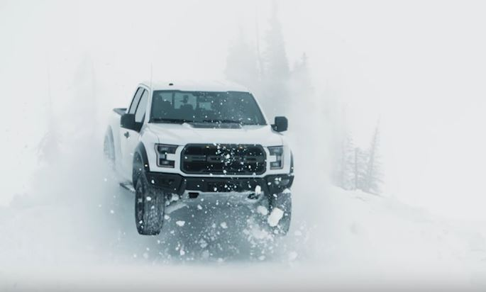 2017 Raptor and Ken Block Snow Driving