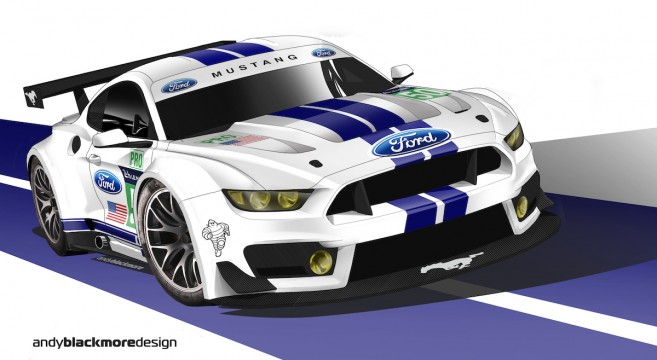 Ford Gt Sits In For Cancelled Mustang At  Hours Of Le Mans