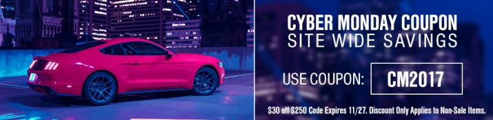 2017 Mustang Cyber Monday Coupon Code