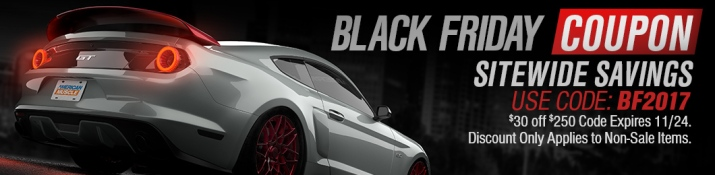 2017 Mustang Black Friday Coupon Code