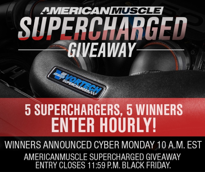 2017 Mustang Black Friday Supercharger Giveaway